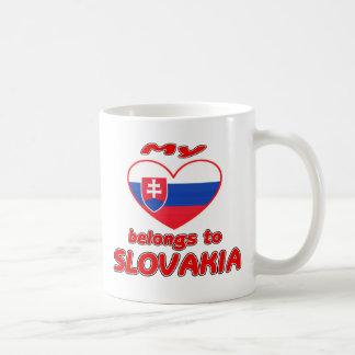 Caneca De Café Meu coração pertence a Slovakia