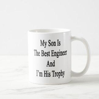 Caneca De Café Meu filho é o melhor engenheiro e eu sou seu