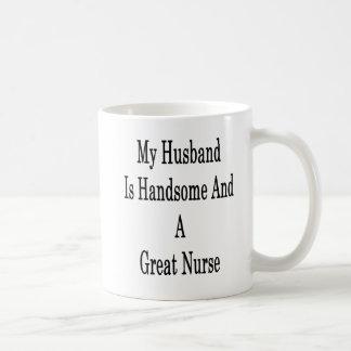 Caneca De Café Meu marido é considerável e uma grande enfermeira
