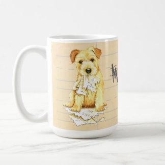 Caneca De Café Meu Norfolk Terrier comeu meus trabalhos de casa