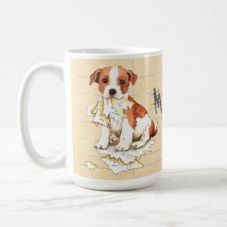 Caneca De Café Meu Parson Russell Terrier comeu meus trabalhos de