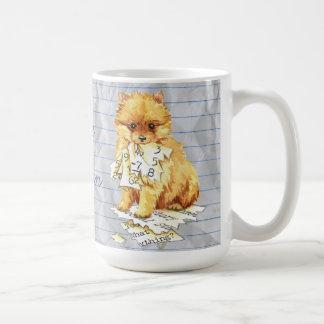 Caneca De Café Meu Pomeranian comeu meu plano de aula