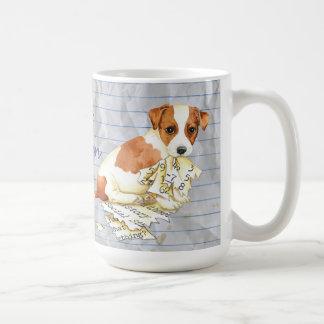 Caneca De Café Meu Russell Terrier comeu meu plano de aula