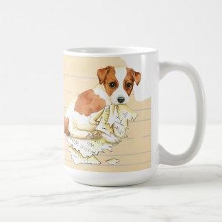 Caneca De Café Meu Russell Terrier comeu meus trabalhos de casa