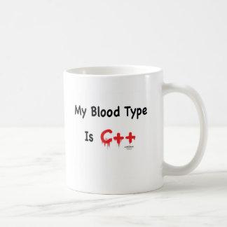 Caneca De Café Meu tipo de sangue é c++