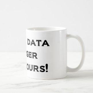 Caneca De Café Meus dados grandes são mais grandes do que seu!