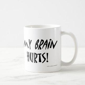 Caneca De Café Meus danos do cérebro!