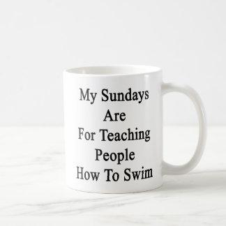 Caneca De Café Meus domingos são para pessoas de ensino como
