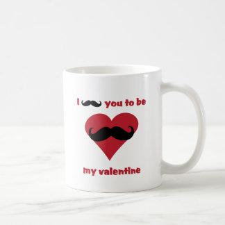 Caneca De Café mim bigode você a ser meus namorados