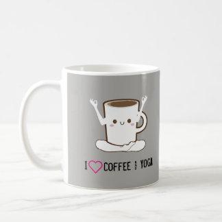 Caneca De Café Mim café e ioga do ❤