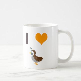 Caneca De Café Mim codorniz do coração