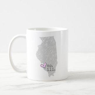 Caneca De Café mim coração illinois do sul