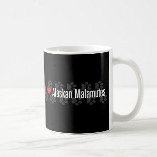 Caneca De Café Mim (coração) Malamutes do Alasca
