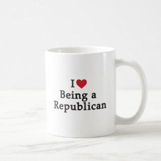 Caneca De Café Mim coração que é um republicano