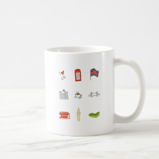 Caneca De Café Mim coração Reino Unido, amor britânico, marcos de