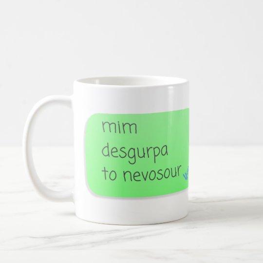 Caneca De Café Mim desgurpa to nevosour