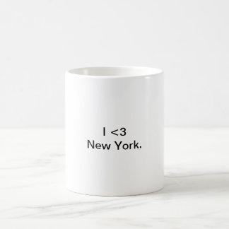 Caneca De Café Mim design de New York do coração