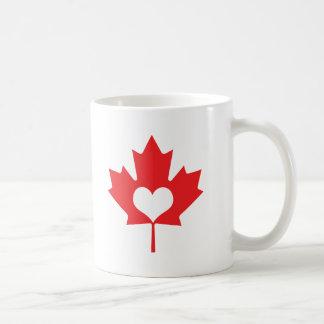 Caneca De Café Mim folha de bordo de Canadá do coração