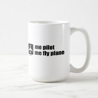 Caneca De Café mim piloto mim plano da mosca
