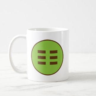 Caneca De Café Mim Trigram da terra de Ching (Kun)