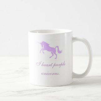 Caneca De Café Mim unicorns. do roxo do coração