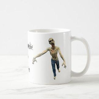 Caneca De Café Mim zombi - você design do espelho do cérebro