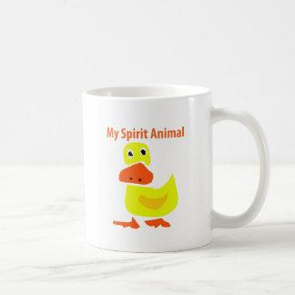 Caneca De Café Minha arte amarela animal do pato do espírito