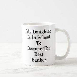 Caneca De Café Minha filha está na escola a transformar-se o