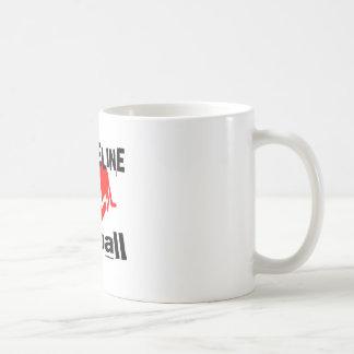 Caneca De Café Minha linha de vida Netball ostenta o design