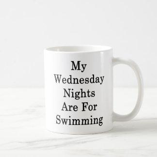 Caneca De Café Minhas noites de quarta-feira são nadando