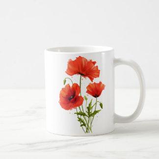 Caneca De Café Minhas papoilas das flores