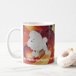 Caneca De Café Minhas rochas do cão de caniche!!! no outono