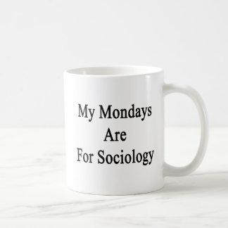 Caneca De Café Minhas segundas-feiras são para a Sociologia