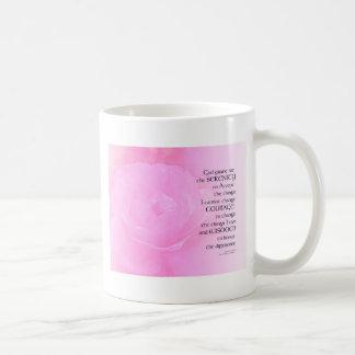 Caneca De Café Mistura do rosa do rosa da oração da serenidade