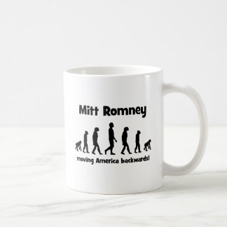 Caneca De Café Mitt Romney que move América para trás