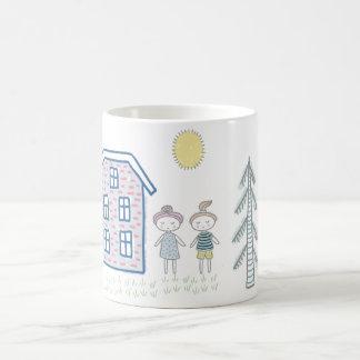 Caneca De Café Miúdos bonitos dos desenhos animados