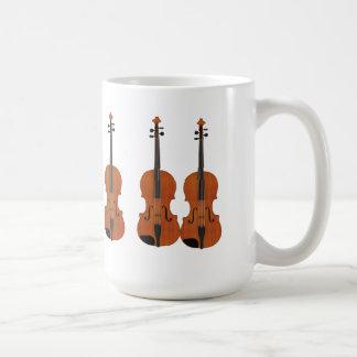 Caneca De Café Modelo do violino 3D: Revestimento de madeira