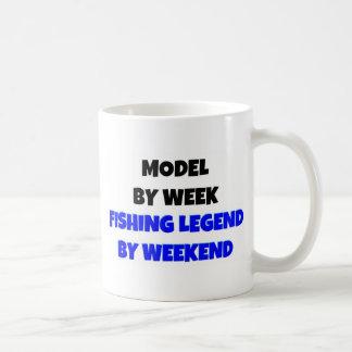 Caneca De Café Modelo pela legenda da pesca da semana em o fim de