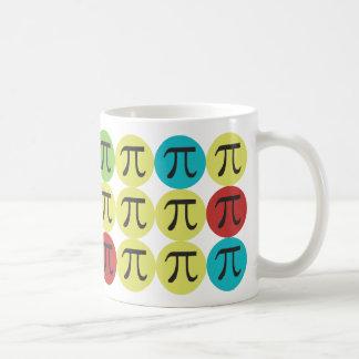 Caneca De Café Modificação Pi - Presente colorido do Pi