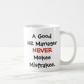 Caneca De Café Mokes Mistrakes bons de um gerente da hora nunca!