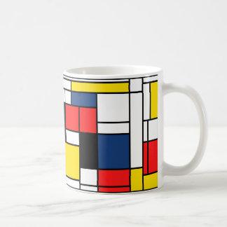 Caneca De Café Mondrian bebe aqui!