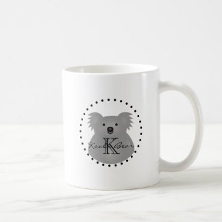 Caneca De Café Monograma peluches bonito do urso de Koala do bebê