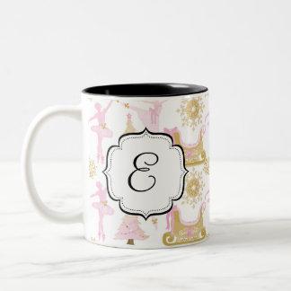 Caneca de café Monogrammed do chá do balé da série