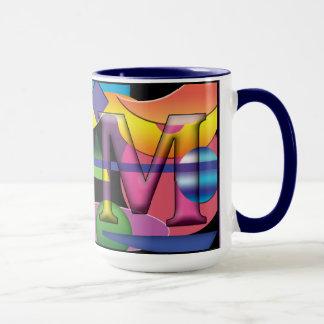 Caneca de café monogrammed do RM