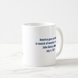 Caneca De Café Monstro da sociedade de John Quincy Adams para
