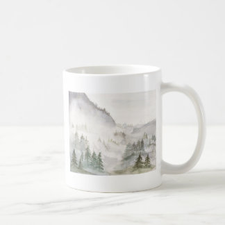 Caneca De Café Montanhas enevoadas
