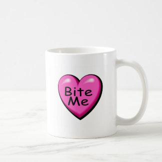 Caneca De Café Morda-me coração dos doces