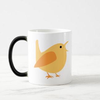 Caneca de café Morphing do pássaro alaranjado