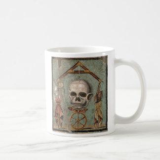 Caneca De Café Mosaico do crânio de Roma Pompeii