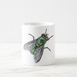 Caneca De Café mosca verde - imitação do bordado